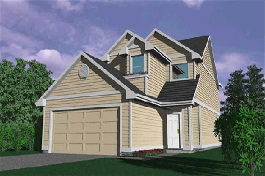 4-Bedroom, 1638 Sq Ft Craftsman Home Plan - 149-1268 - Main Exterior