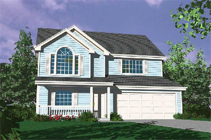 4-Bedroom, 1438 Sq Ft Country Home Plan - 149-1269 - Main Exterior