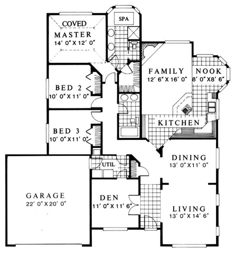 Feng Shui Ranch House Plans Home Design M 1853 2726