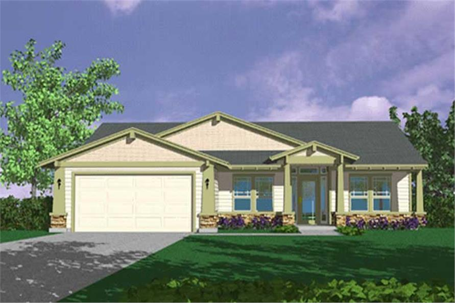 3-Bedroom, 1863 Sq Ft Feng Shui Home Plan - 149-1274 - Main Exterior