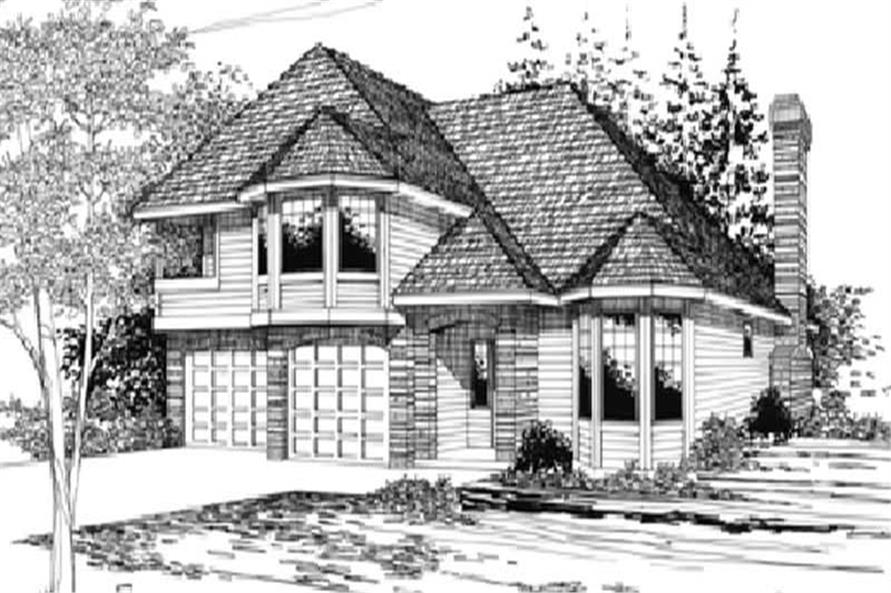 3-Bedroom, 1867 Sq Ft Traditional Home Plan - 149-1276 - Main Exterior