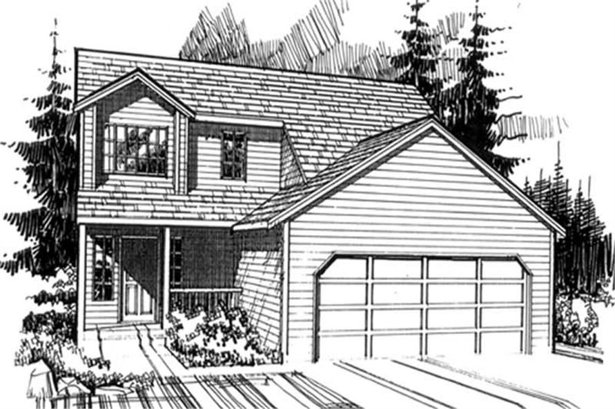 3-Bedroom, 1578 Sq Ft Country Home Plan - 149-1277 - Main Exterior