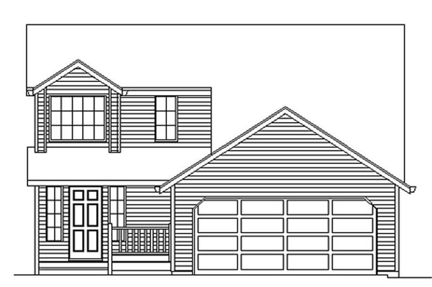 Exterior Detail of this 3-Bedroom,1578 Sq Ft Plan -1578