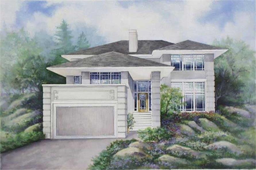 3-Bedroom, 1871 Sq Ft Contemporary Home Plan - 149-1278 - Main Exterior