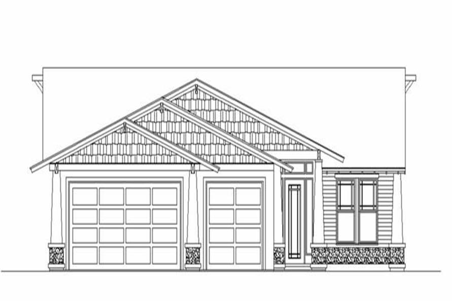 Front elevation of Ranch home (ThePlanCollection: House Plan #149-1279)