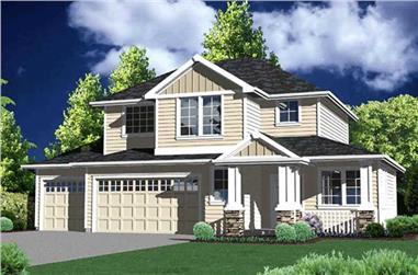 4-Bedroom, 1814 Sq Ft Craftsman Home Plan - 149-1280 - Main Exterior