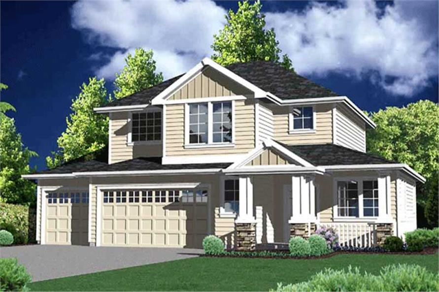 4-Bedroom, 1814 Sq Ft Craftsman Home Plan - 149-1280 - Main Exterior
