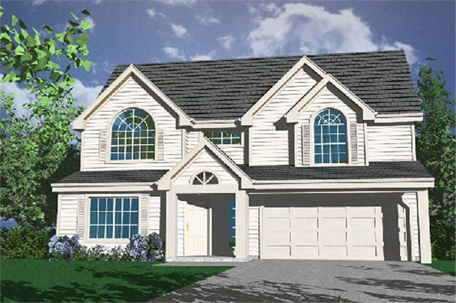 4-Bedroom, 1649 Sq Ft Country Home Plan - 149-1281 - Main Exterior