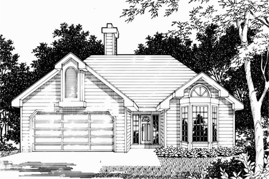 Home Plan Rendering of this 3-Bedroom,1528 Sq Ft Plan -149-1283