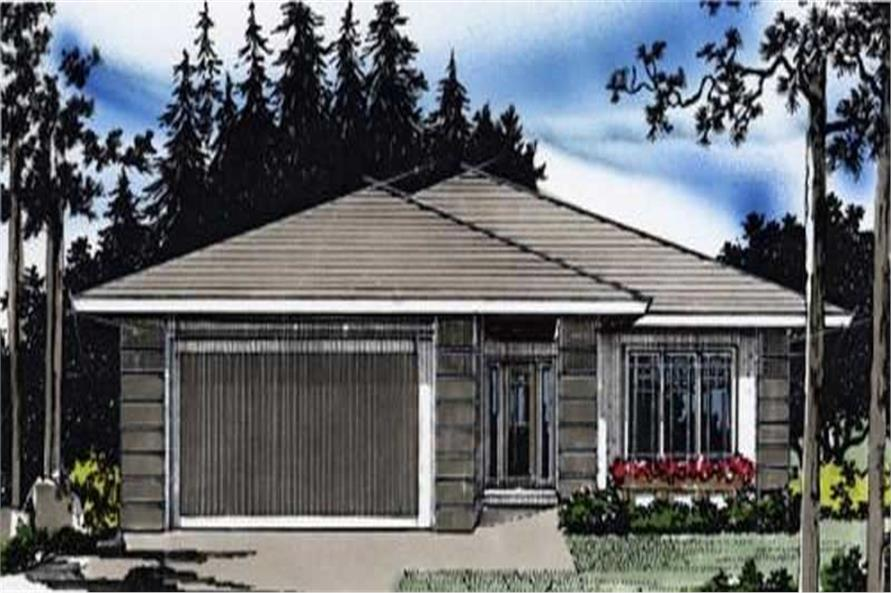 3-Bedroom, 1533 Sq Ft Ranch Home Plan - 149-1284 - Main Exterior