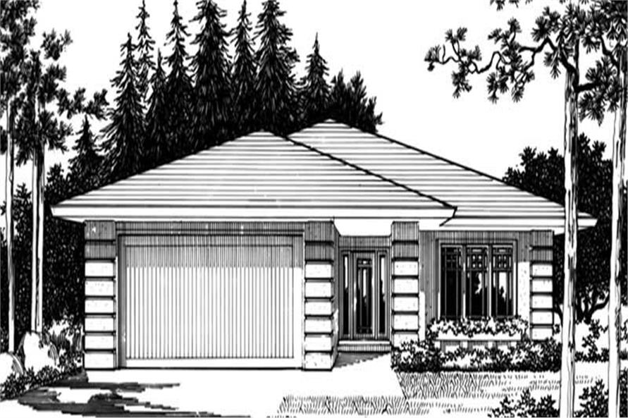 Home Plan Rendering of this 3-Bedroom,1533 Sq Ft Plan -149-1284