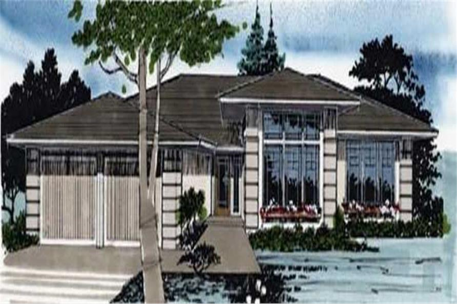 3-Bedroom, 1557 Sq Ft Contemporary Home Plan - 149-1286 - Main Exterior
