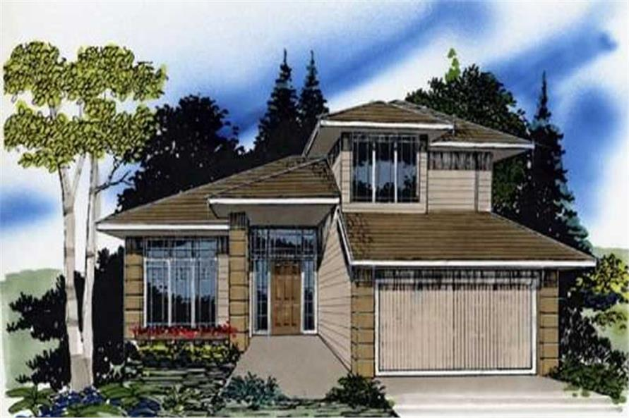 3-Bedroom, 1536 Sq Ft Prairie Home Plan - 149-1288 - Main Exterior