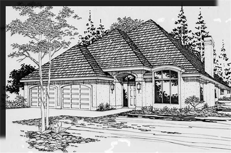 3-Bedroom, 1889 Sq Ft Feng Shui Home Plan - 149-1289 - Main Exterior