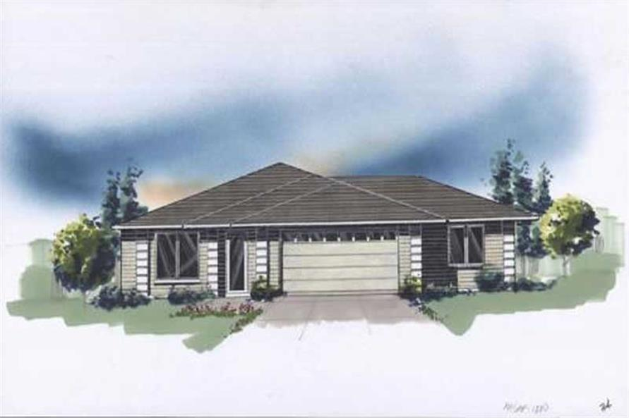 2-Bedroom, 1880 Sq Ft Feng Shui Home Plan - 149-1291 - Main Exterior