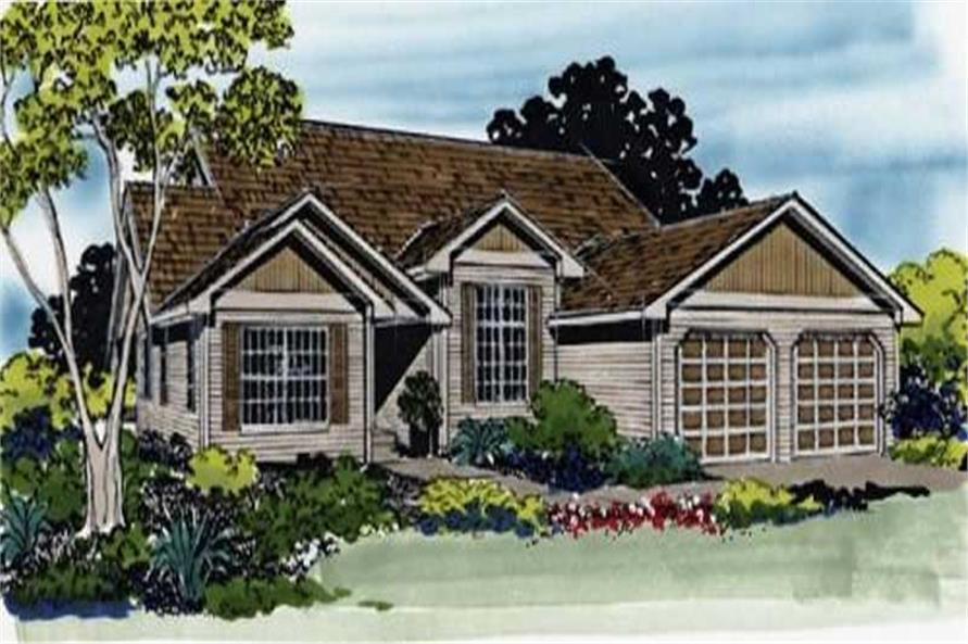 3-Bedroom, 1604 Sq Ft Small House Plans - 149-1293 - Main Exterior