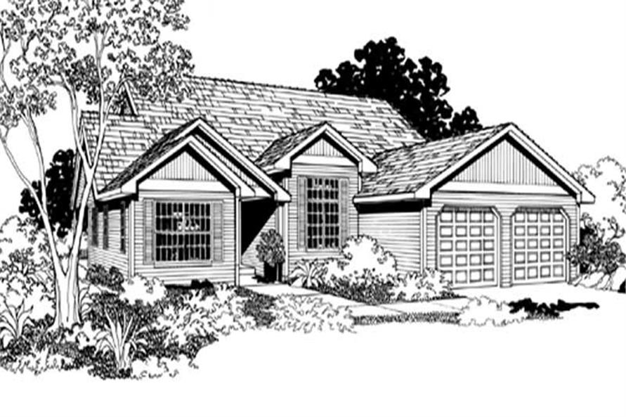 Home Plan Rendering of this 3-Bedroom,1604 Sq Ft Plan -149-1293