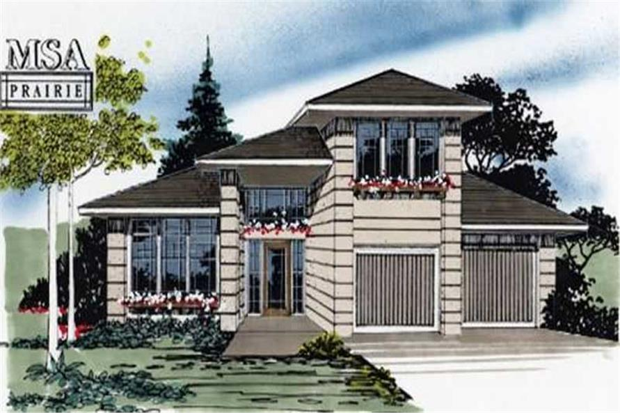 3-Bedroom, 1583 Sq Ft Prairie Home Plan - 149-1294 - Main Exterior