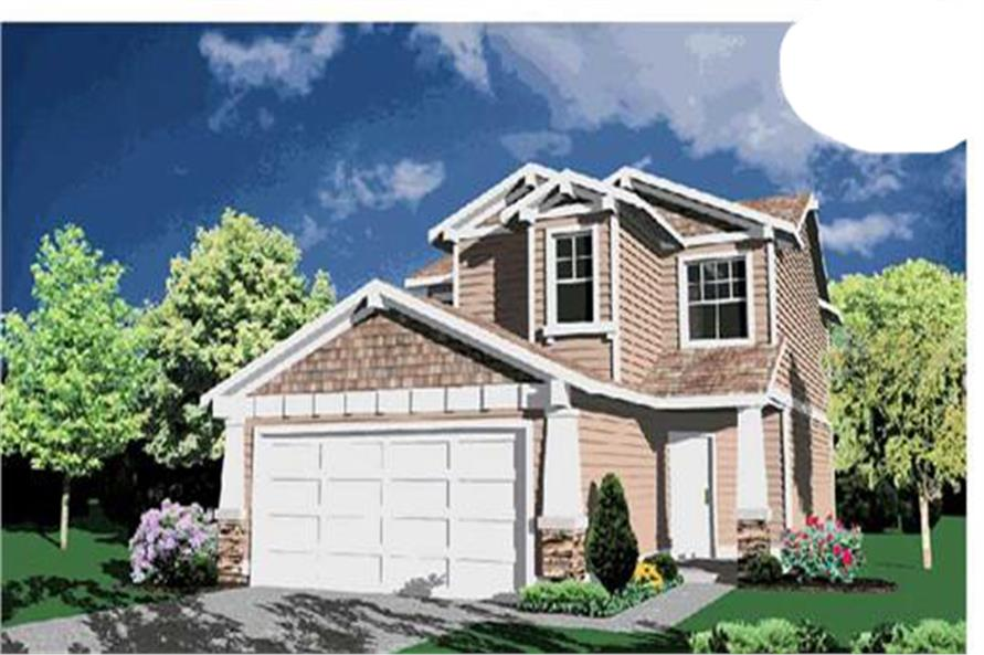 4-Bedroom, 1638 Sq Ft Small House Plans - 149-1295 - Main Exterior