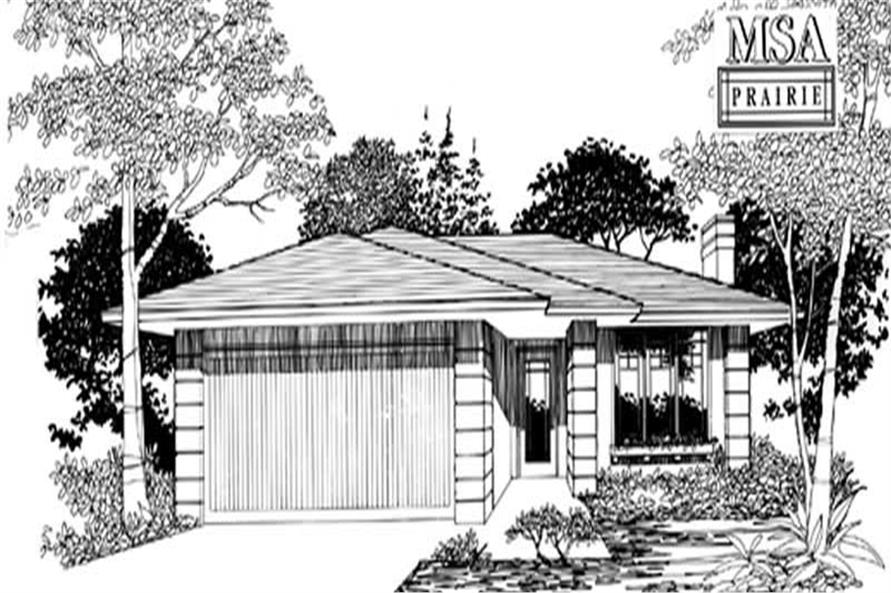 3-Bedroom, 1483 Sq Ft Ranch Home Plan - 149-1298 - Main Exterior