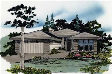 3-Bedroom, 1489 Sq Ft Feng Shui Home Plan - 149-1299 - Main Exterior