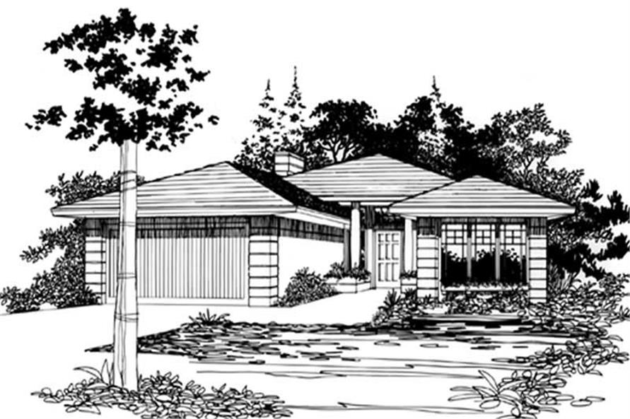 Home Plan Rendering of this 3-Bedroom,1489 Sq Ft Plan -149-1299