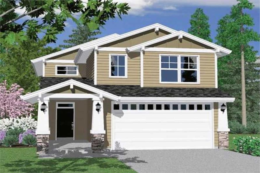 3-Bedroom, 1613 Sq Ft Craftsman Home Plan - 149-1302 - Main Exterior