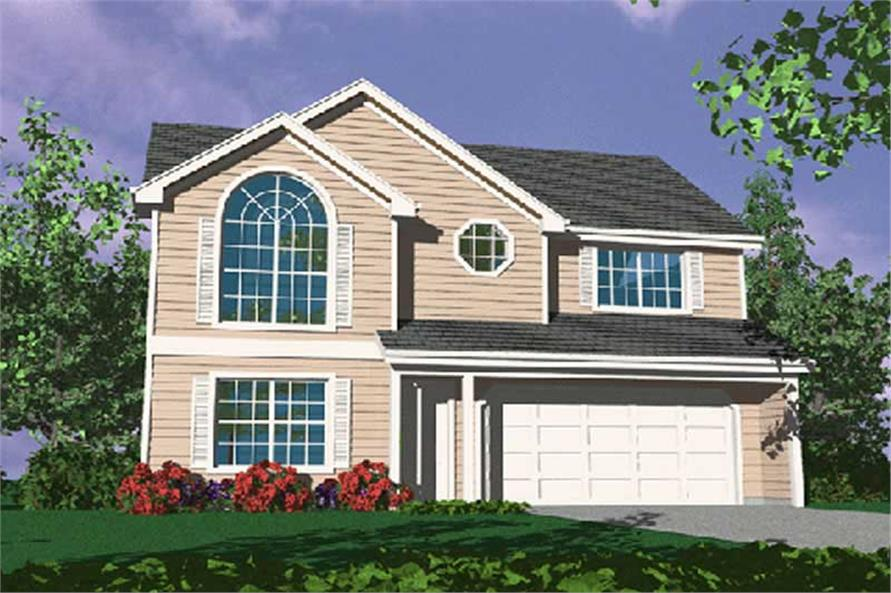 4-Bedroom, 1606 Sq Ft Country Home Plan - 149-1304 - Main Exterior