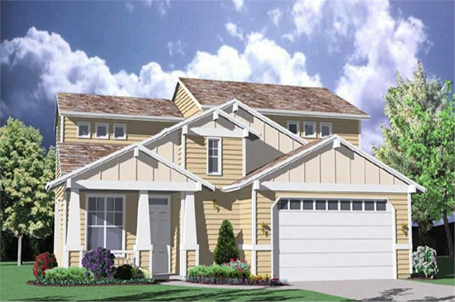 3-Bedroom, 1598 Sq Ft Contemporary Home Plan - 149-1307 - Main Exterior