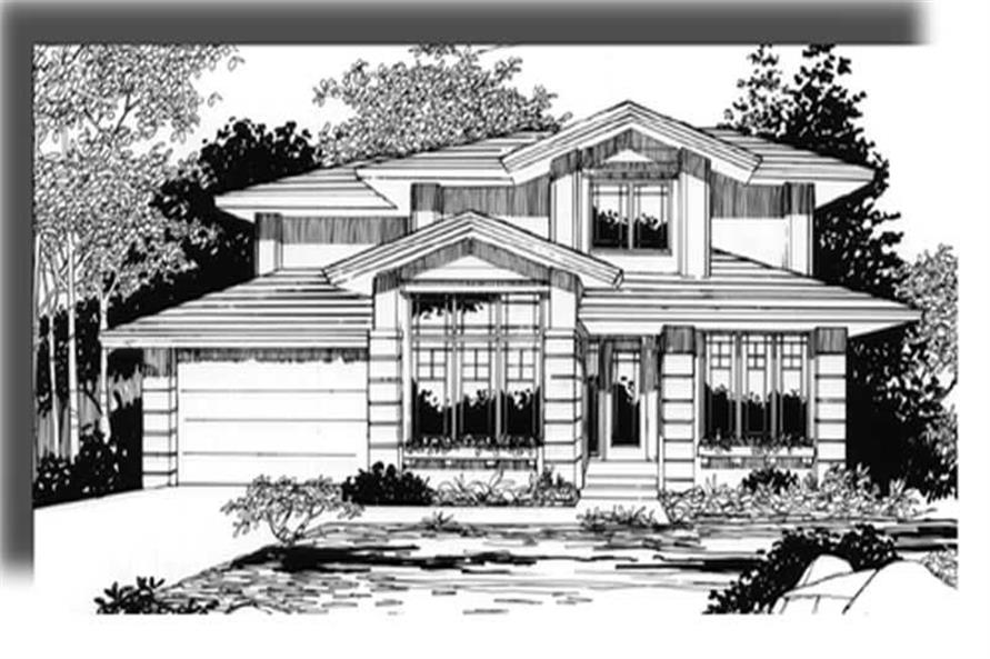 4-Bedroom, 1908 Sq Ft Craftsman Home Plan - 149-1308 - Main Exterior