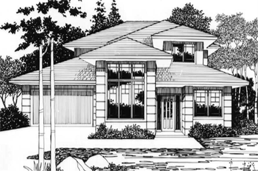 4-Bedroom, 1908 Sq Ft Feng Shui Home Plan - 149-1310 - Main Exterior