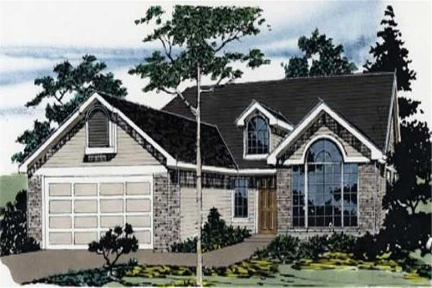 3-Bedroom, 1500 Sq Ft Ranch Home Plan - 149-1311 - Main Exterior