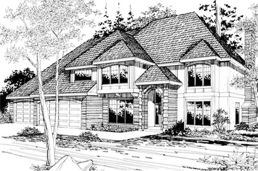 Main Elevation of this 4-Bedroom,3733 Sq Ft Plan -3733