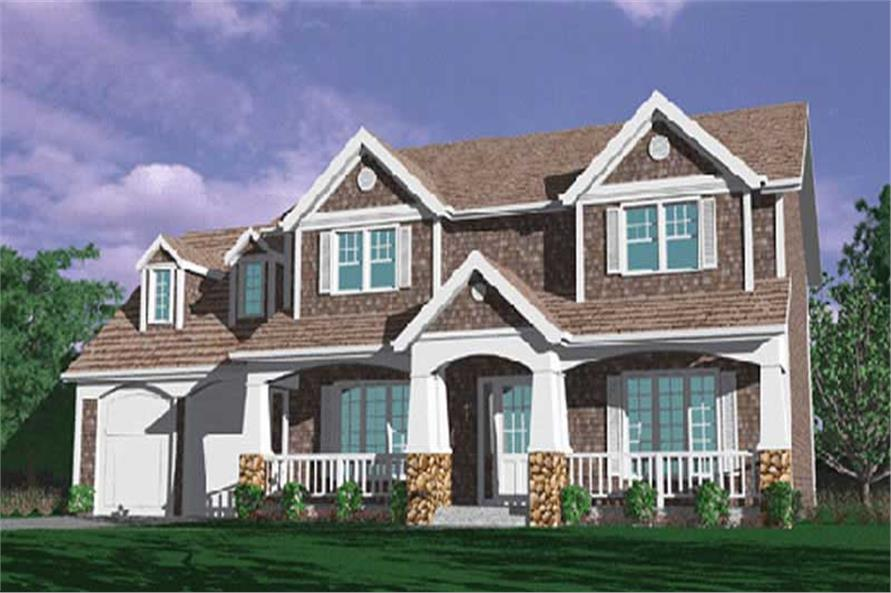 4-Bedroom, 2955 Sq Ft Country Home Plan - 149-1316 - Main Exterior
