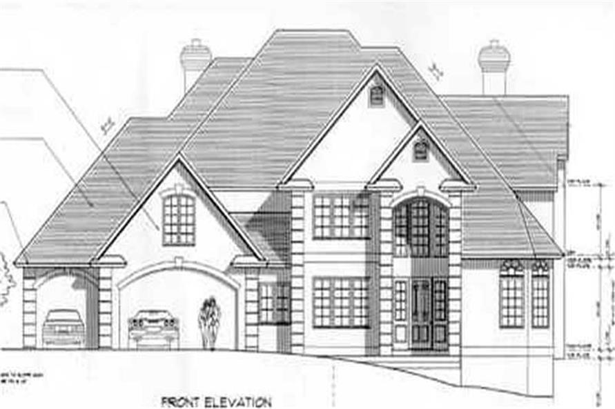 4-Bedroom, 3685 Sq Ft European Home Plan - 149-1317 - Main Exterior