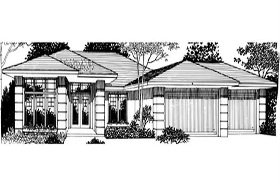 4-Bedroom, 2090 Sq Ft Prairie House Plan - 149-1318 - Front Exterior