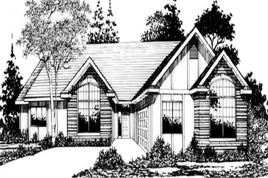 2-Bedroom, 2127 Sq Ft Country House Plan - 149-1320 - Front Exterior