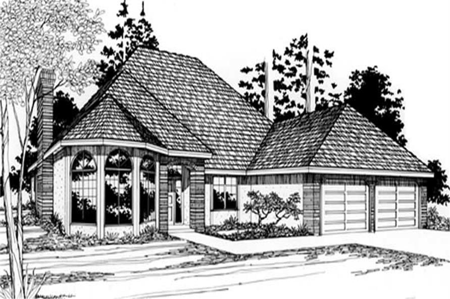 4-Bedroom, 2097 Sq Ft Feng Shui House Plan - 149-1326 - Front Exterior