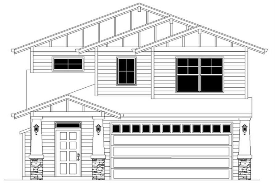 3-Bedroom, 1788 Sq Ft Craftsman Home Plan - 149-1329 - Main Exterior