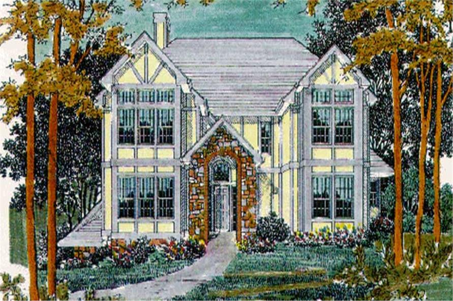 4-Bedroom, 2967 Sq Ft Traditional Home Plan - 149-1333 - Main Exterior