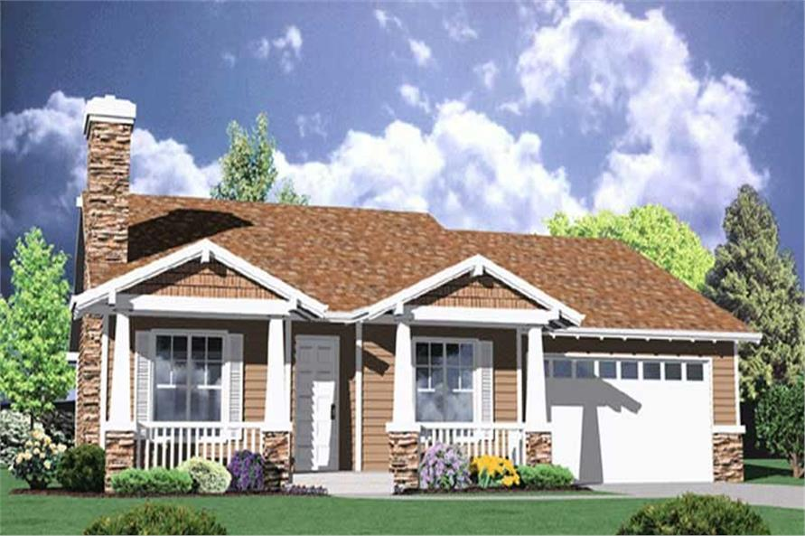 3-Bedroom, 1764 Sq Ft Country Home Plan - 149-1337 - Main Exterior