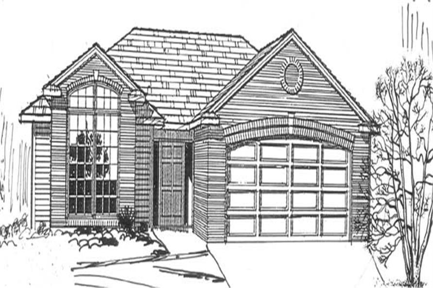 4-Bedroom, 1704 Sq Ft Feng Shui Home Plan - 149-1338 - Main Exterior