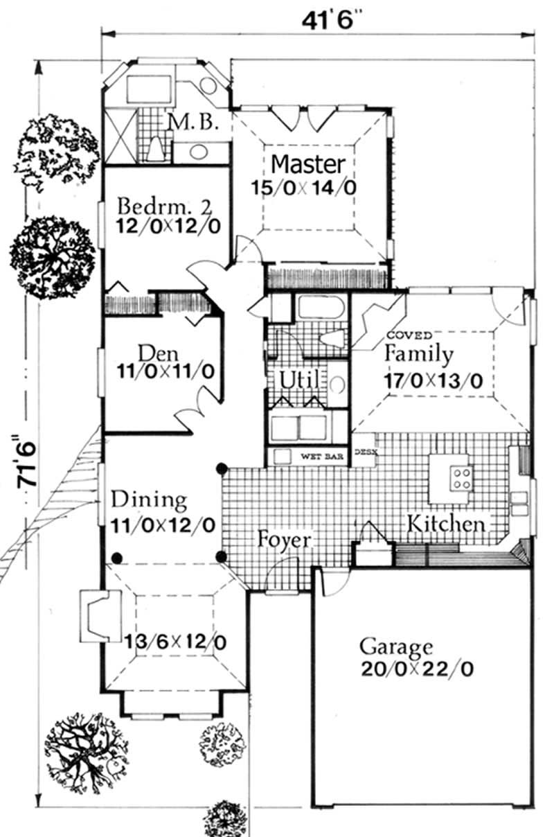 Ranch Feng Shui House Plans Home Design M 1704 2286