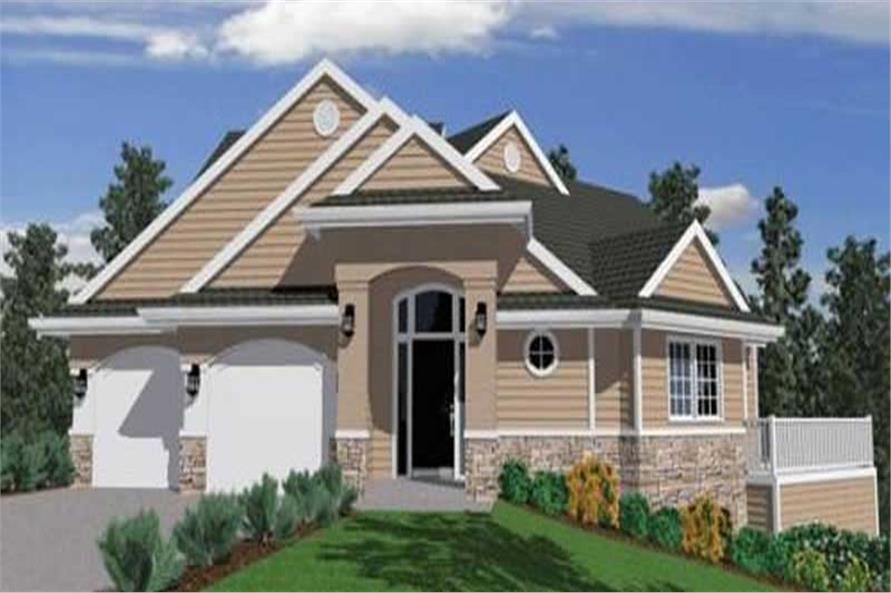 Front elevation of Traditional home (ThePlanCollection: House Plan #149-1340)