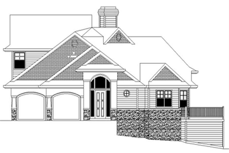 Main Elevation of this 3-Bedroom,2115 Sq Ft Plan -2115