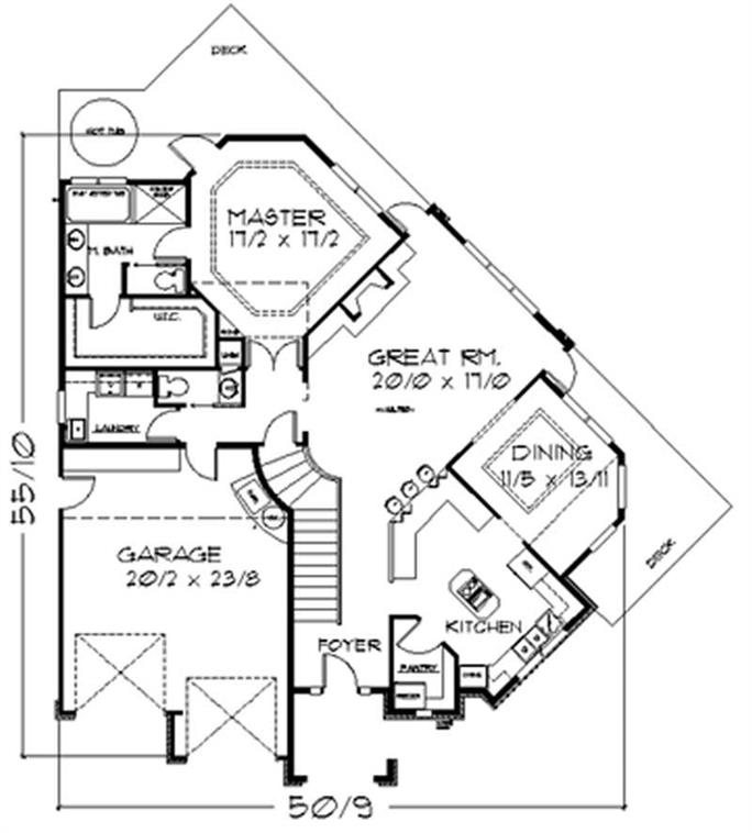 pie shaped lot house plans - Pie Shaped Lot Home Plans