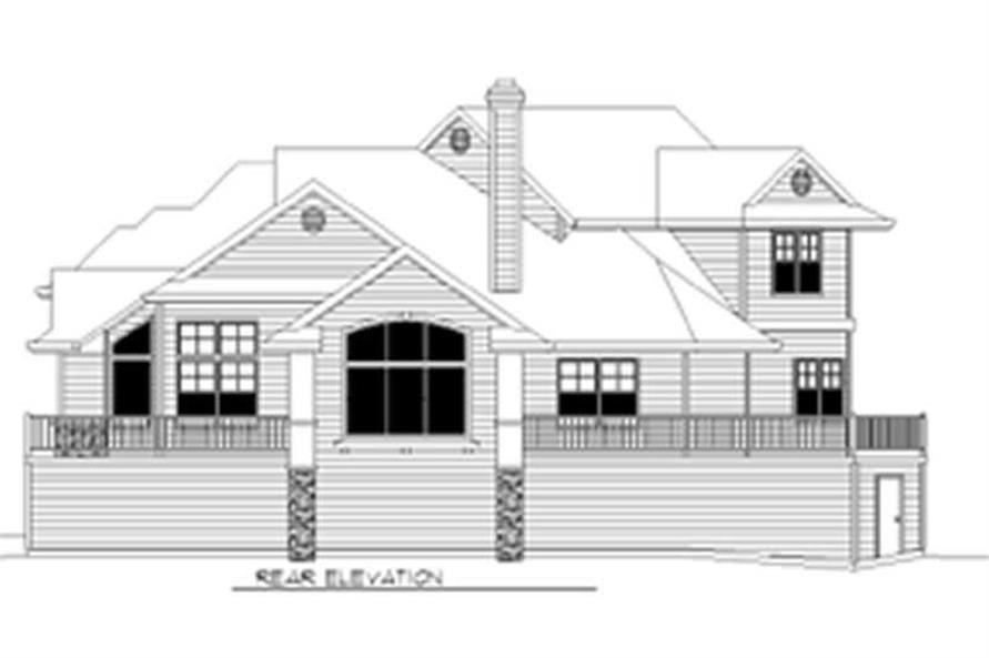 Home Plan Rear Elevation of this 3-Bedroom,2115 Sq Ft Plan -149-1340