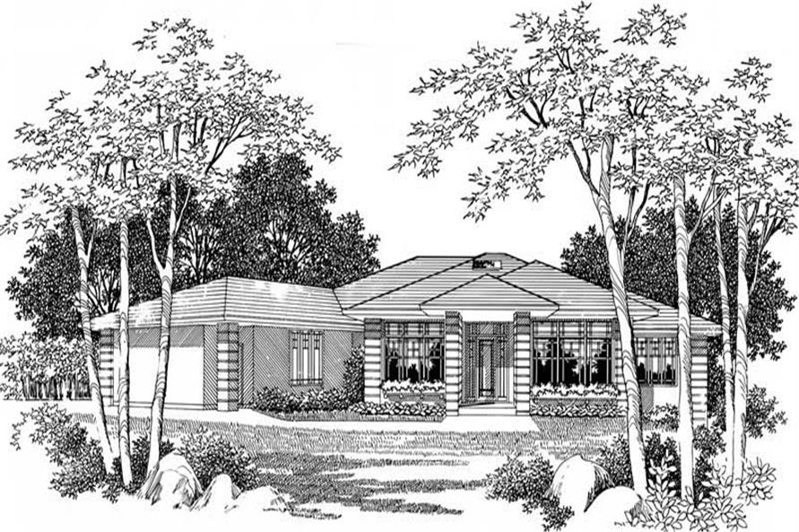 4-Bedroom, 2760 Sq Ft Prairie Home Plan - 149-1341 - Main Exterior