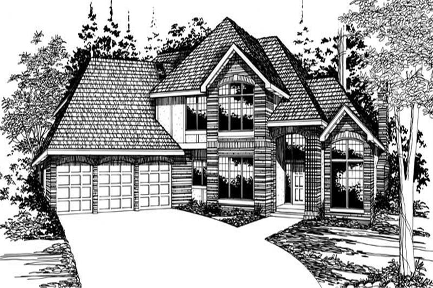 Home Plan Rendering of this 4-Bedroom,3646 Sq Ft Plan -149-1343