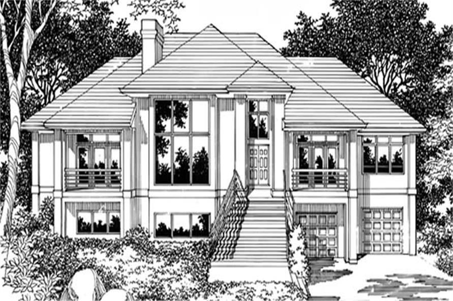 4-Bedroom, 3636 Sq Ft Contemporary Home Plan - 149-1344 - Main Exterior